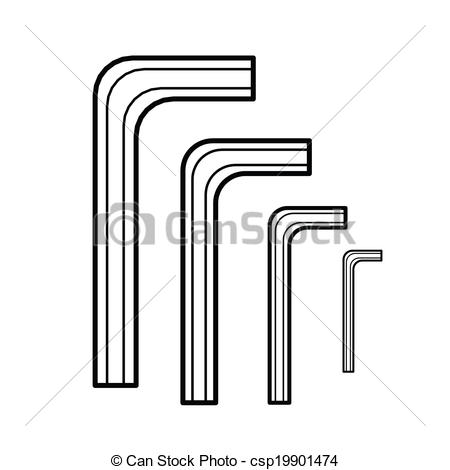 Hex Wrench Clipart.