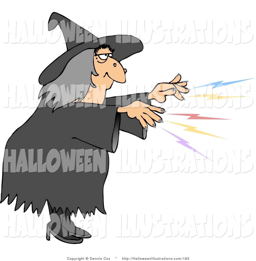 Royalty Free Stock Halloween Designs of Witches.