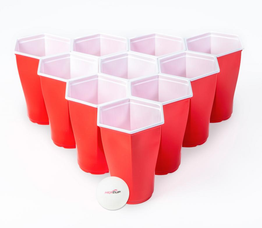 Hexcups Are Hexagon Shaped Beer Pong Cups That Have No Gaps In.