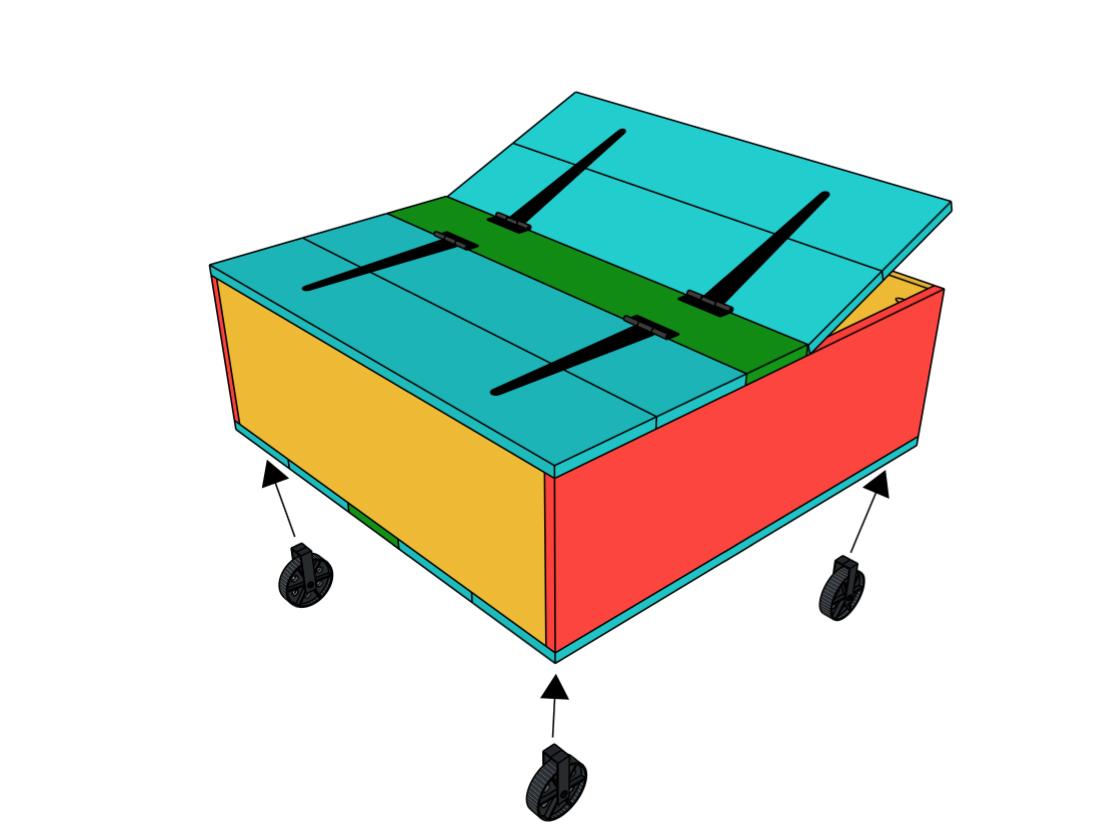 DIY Storage Coffee Table & YouTube Video Tutorial!.