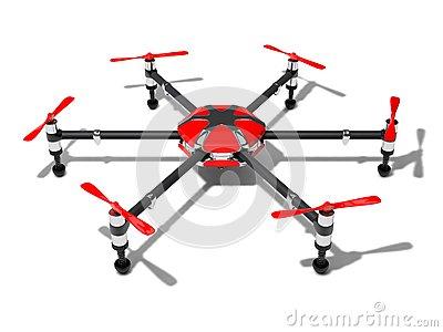 Hexacopter Concept Royalty Free Stock Photos.