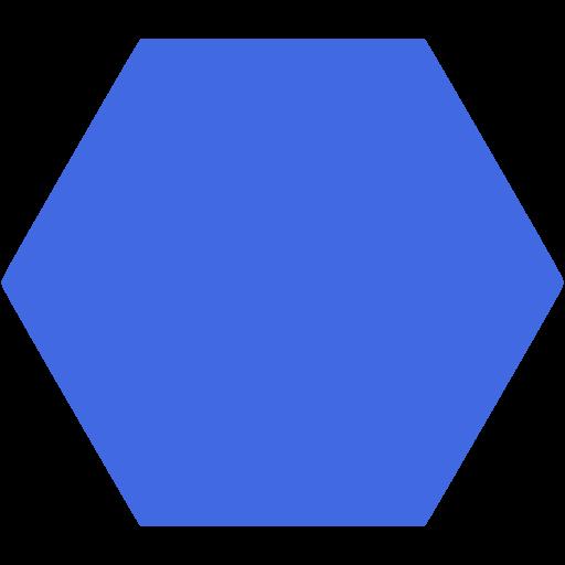 Blue Hexagon Clip Art.