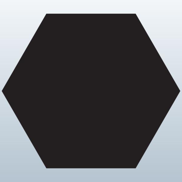 Hexagon 3D Model Made with 123D Clip Art.