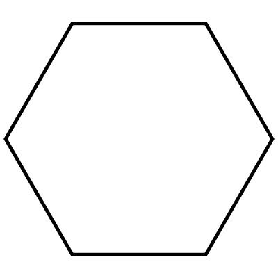 Clipart hexagon shape.