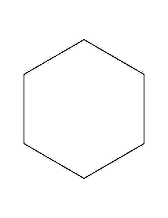 Hexagon Clipart Outline.