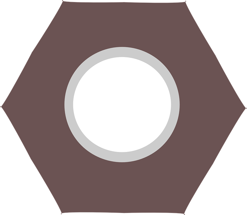 Free vector graphic: Nut, Hardware, Hexagon.