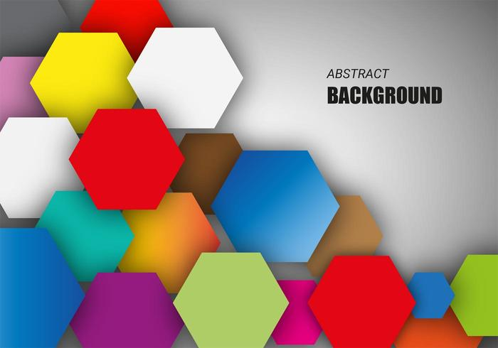 Free Colorful Hexagonal Background Vector.