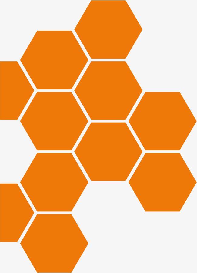 Hexagon, Vector Png, Geometric Shapes PNG Transparent Clipart Image.