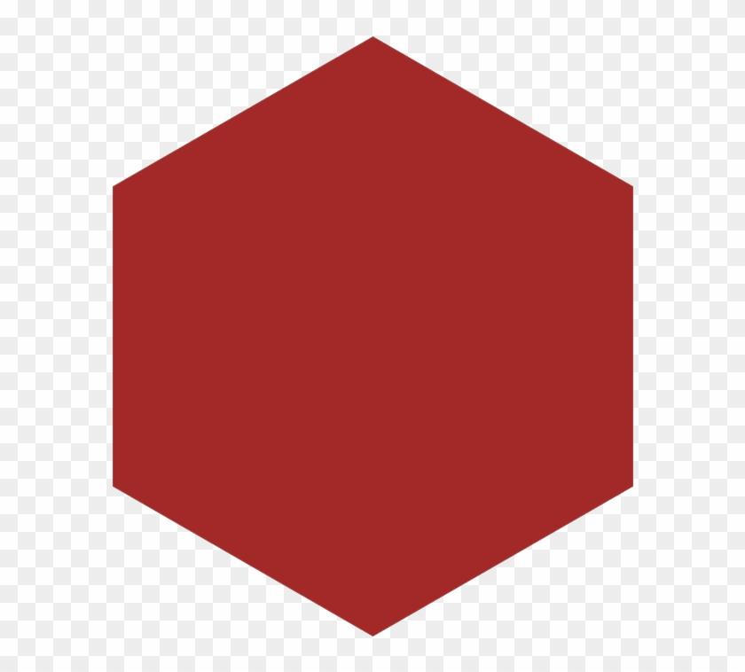 Hexagon Vector Red.