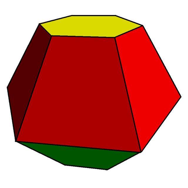 Hexagonal bifrustum.