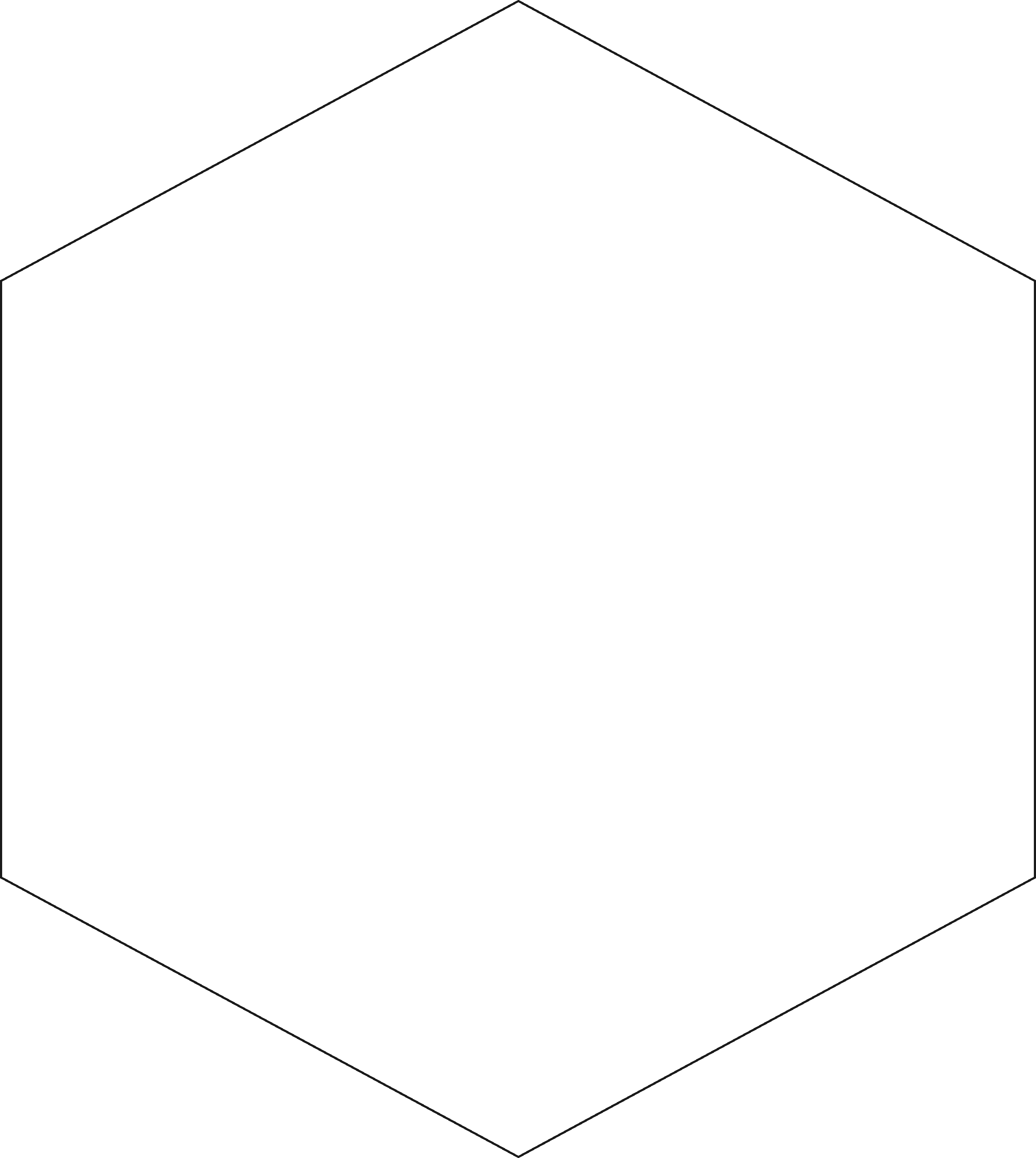 Hexagon Clip Art Black And White.