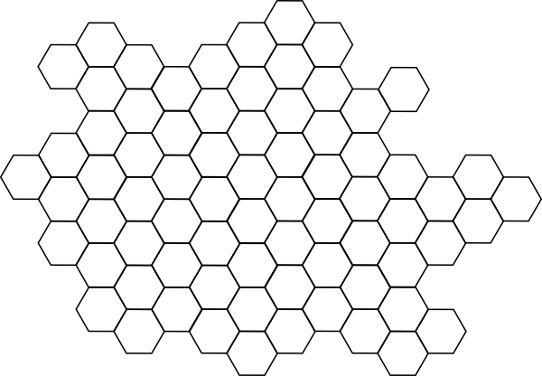 Clipart hexagon pattern.