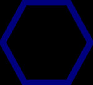 Blue Hexagon Clip Art at Clker.com.