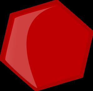Hexagon Red Clip Art at Clker.com.