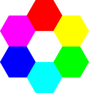 Rainbow Hexagons Clip Art at Clker.com.