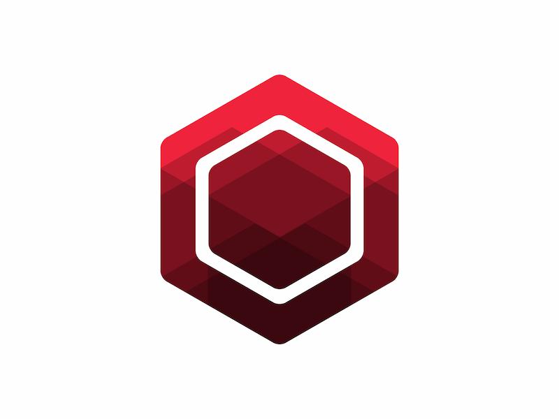 Hexagonal logo.