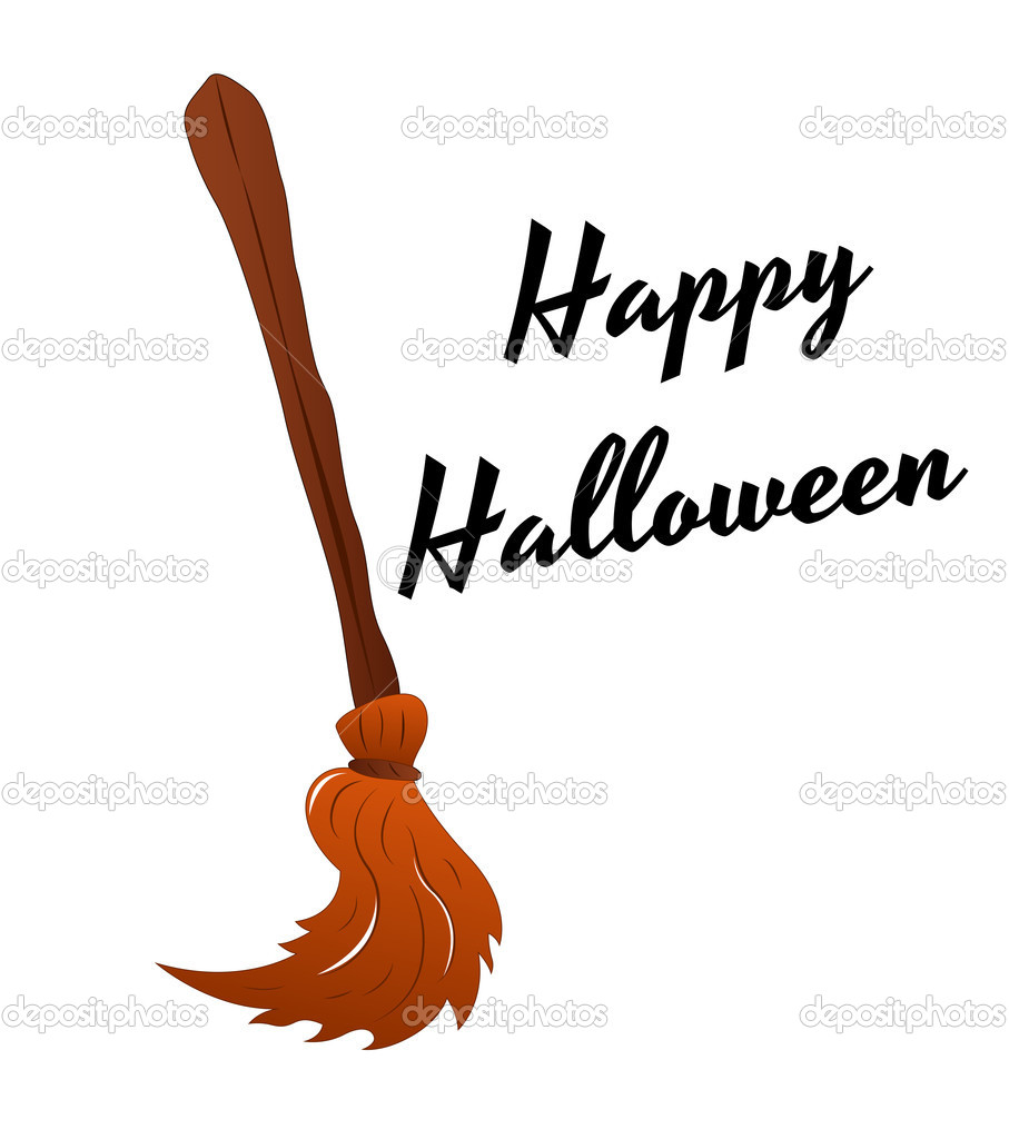 Witch Broomstick Vector — Stock Vector © baavli #10148993.