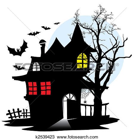 Clipart of House of vampire k2539423.