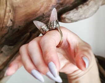 Hexenring Fairy Ring Jewelry Fly Agaric by MoonSerpentJewelry.