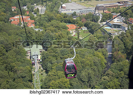 """Picture of """"Cable car to Hexentanzplatz plateau, Witches' Dance."""