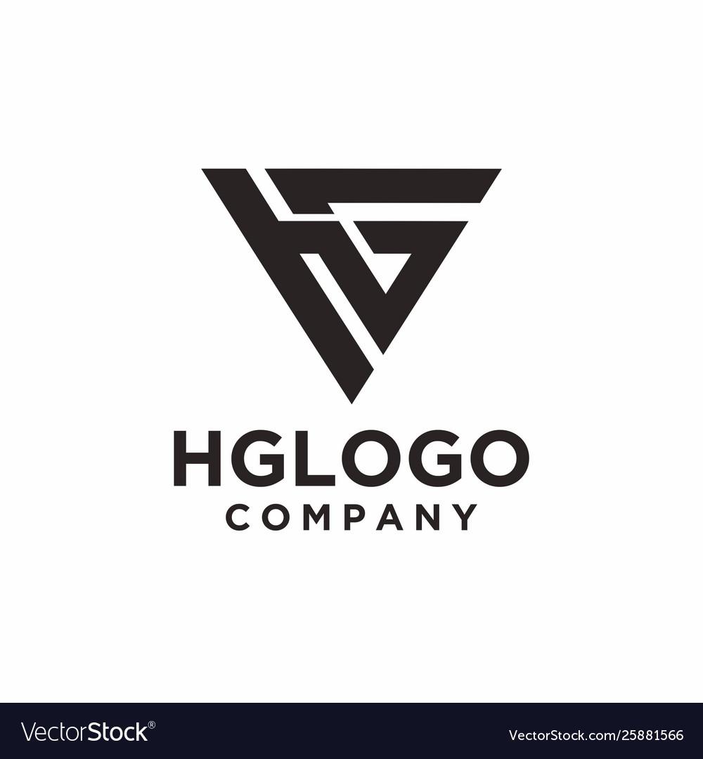 Monogram and initial hg logo design inspiration.