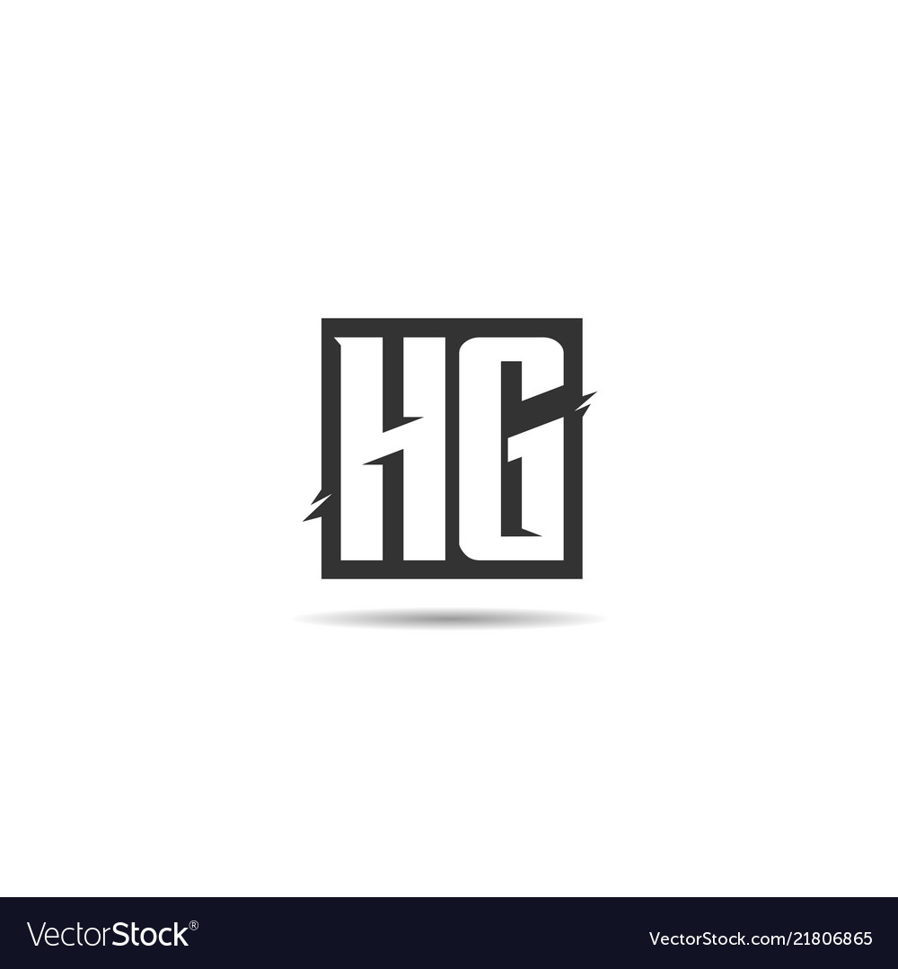 Initial letter hg logo template design.