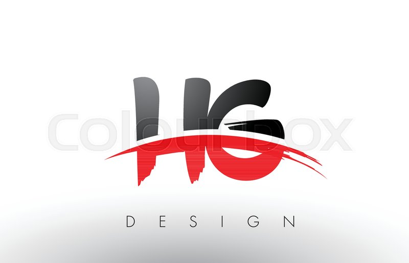 HG H G Brush Logo Letters Design with.