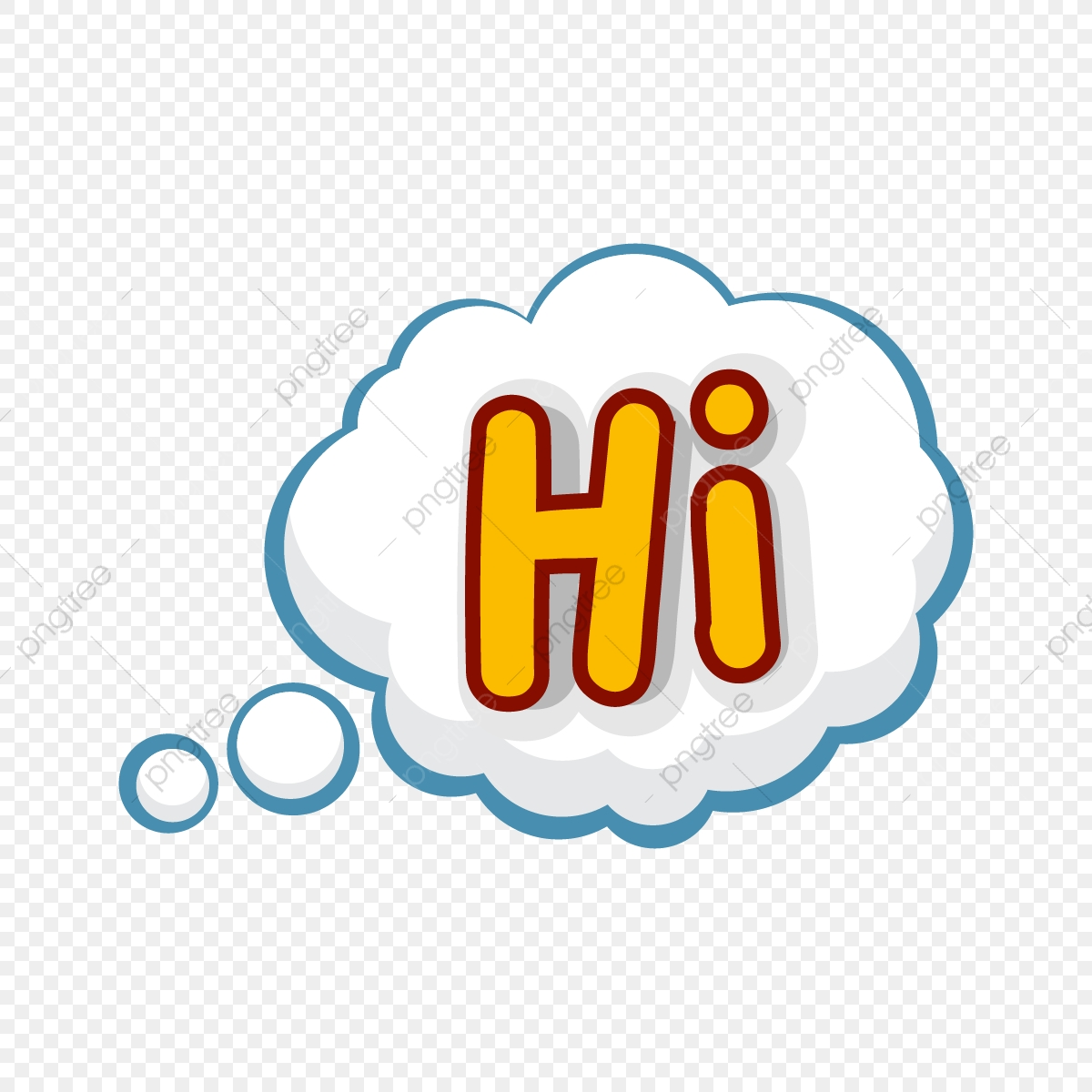 Hi Speech Bubble Stickers, Hi, Talk, Bubble PNG and Vector with.