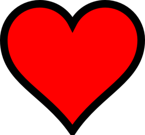 Red Heart Clipart High Resolution.