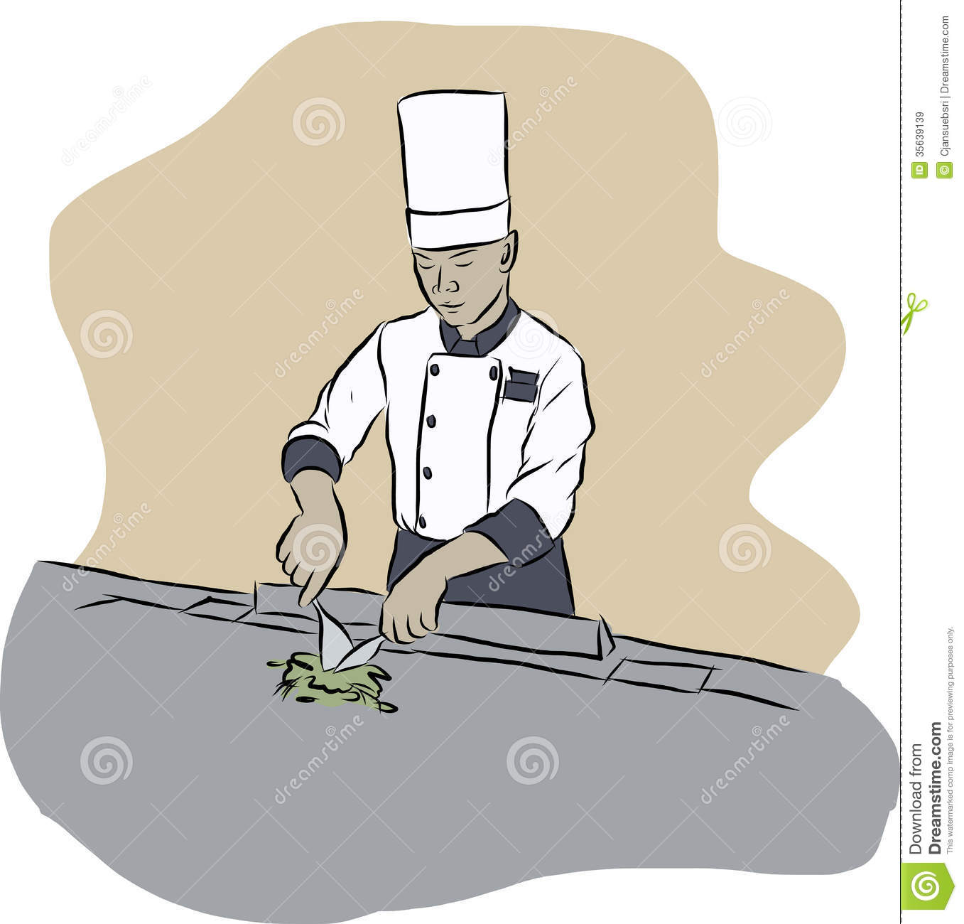 Japanese Chef Clip Art.