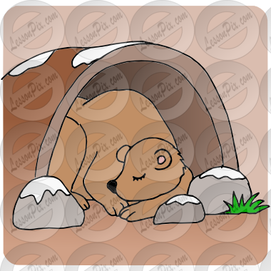 Hibernate Picture for Classroom / Therapy Use.
