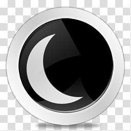 Power Buttons Icon Set Black, Hibernate transparent.