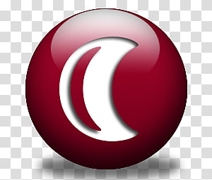 Red Orbs, Red Hibernate icon transparent background PNG.
