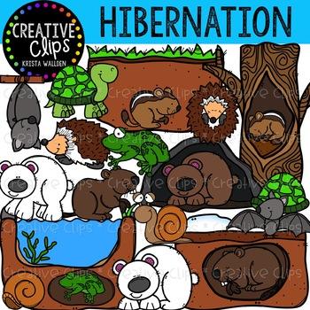 Hibernation Clipart {Creative Clips Clipart}.