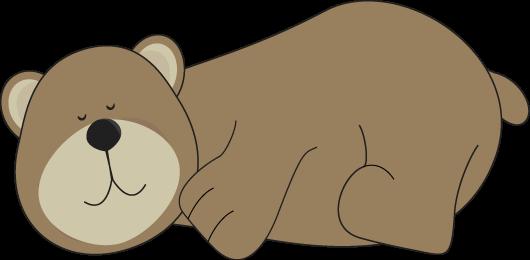 Hibernating Bear Clip Art.