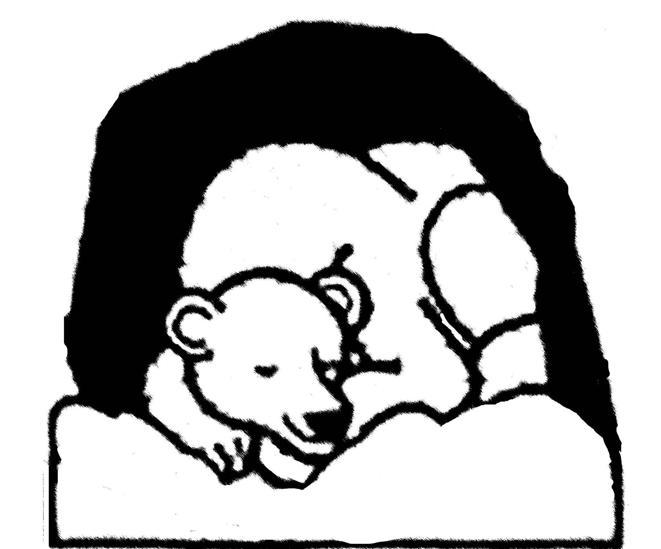 Hibernating Bear Clipart.