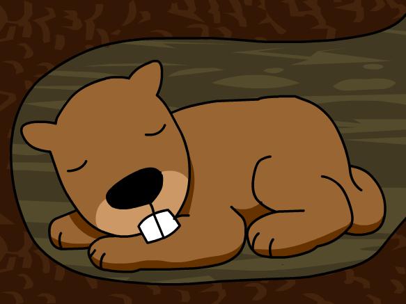 Hibernation Clipart.