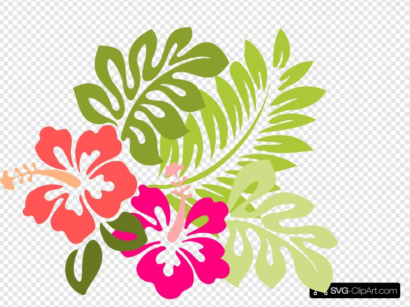 Hibiscus Clip art, Icon and SVG.