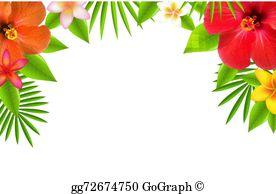 Hibiscus Border Clip Art.