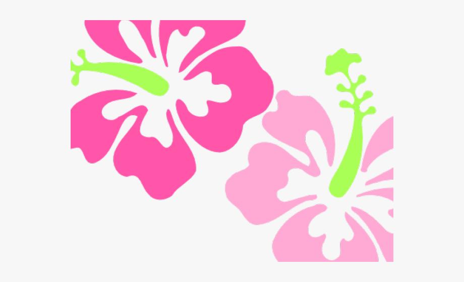 Polynesia Clipart Pink Flower Border.