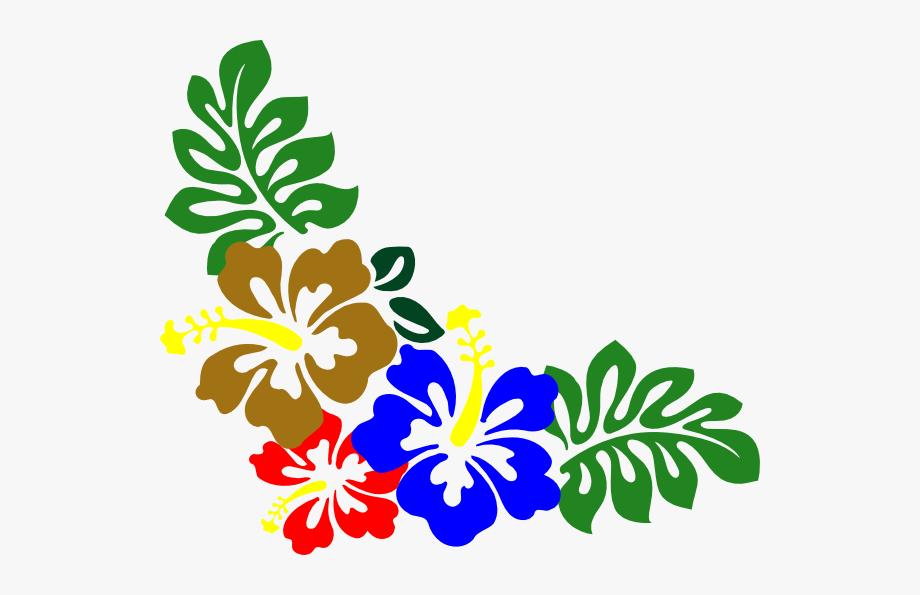 Hibiscus Navy Clip Art.