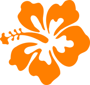 Orange hibiscus clip art.