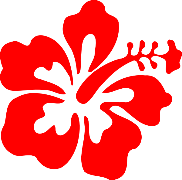 Red Hibiscus Clipart.