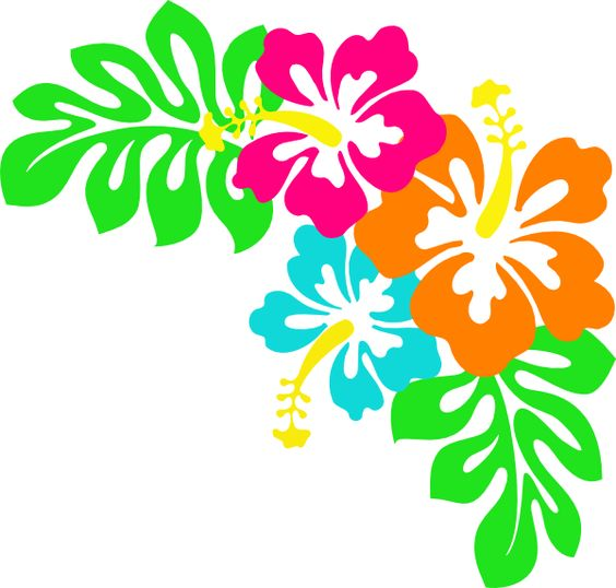 Tropical Leaves Clip Art.
