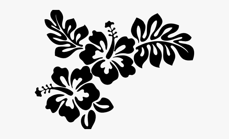 Hibiscus Clipart Black And White.