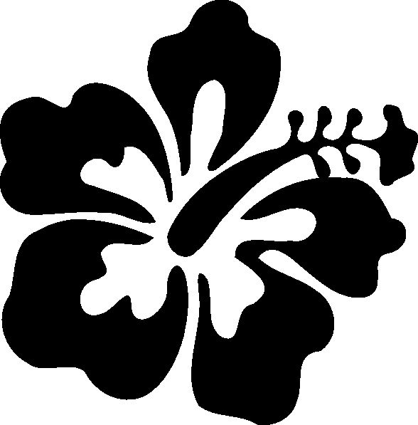Hibiscus Flower Clipart Black And White Hibiscus Clip Art At Clker.