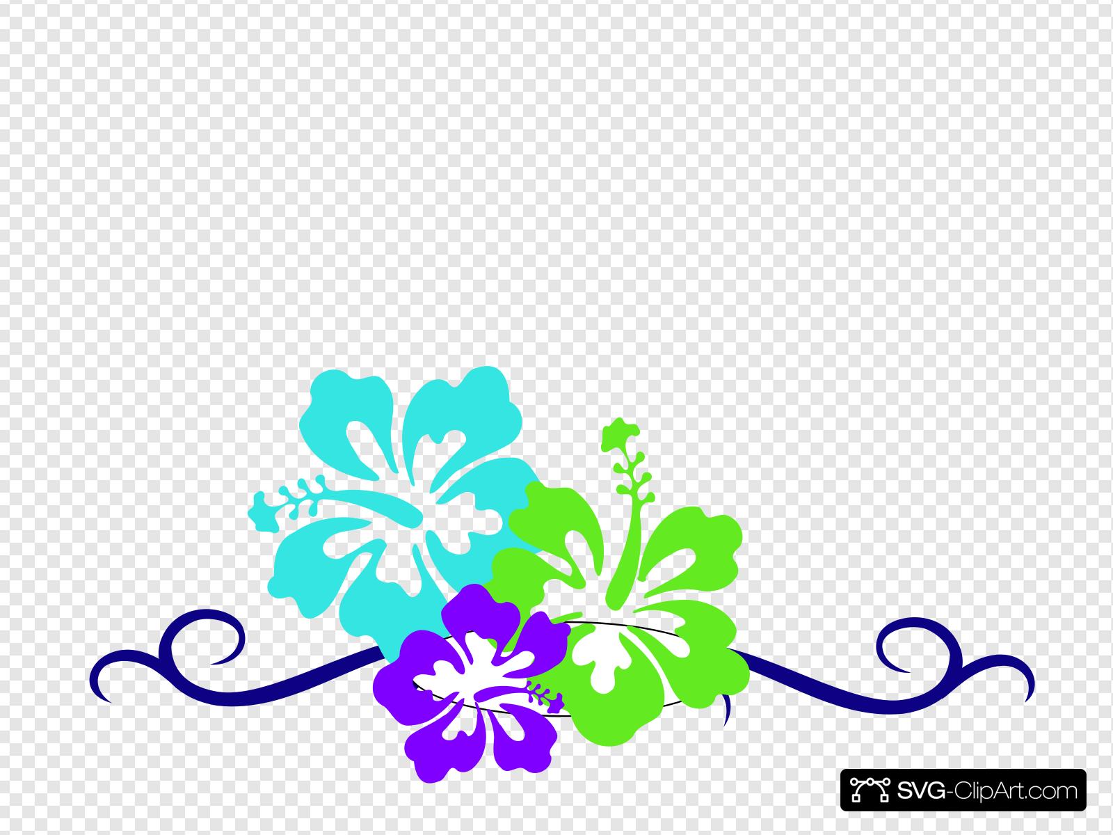 Hibiscus Swirl Border Clip art, Icon and SVG.