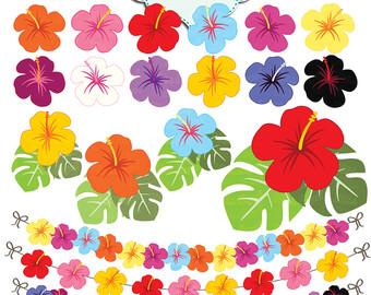 flower clip hibiscus.