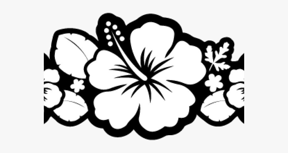 Hibiscus Clipart Outline.