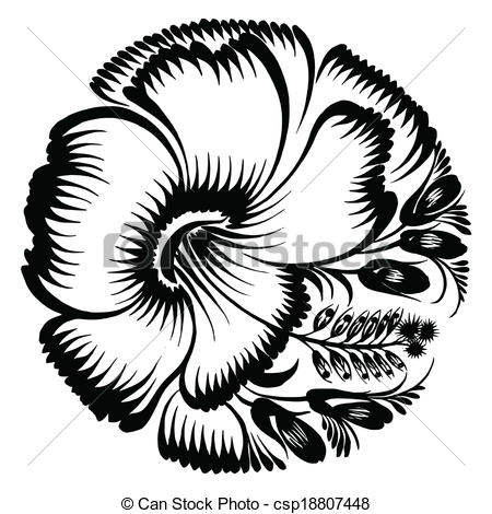 Hibiscus rosa sinensis Clipart Vector and Illustration. 34.